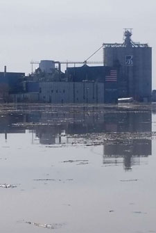 Manildra Group USA Hamburg, IA, Facility Impacted by Flooding